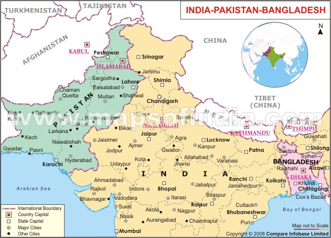 political map of india and pakistan you can see a map of many