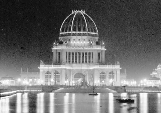 WCE 1893-Worlds-Columbian-Exposition-Electricity-Building-trimmed